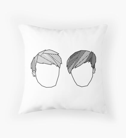 Dan and Phil Geometric Fringes Throw Pillow