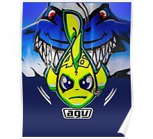 Valentino Rossi Shark helmet Poster