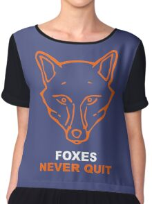 Foxes Never Quit Chiffon Top