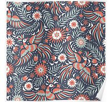 Mexican floral pattern Poster