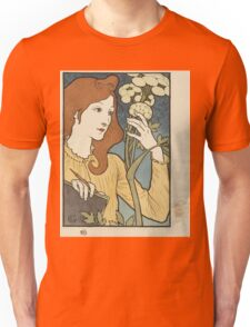 Eugene Samuel Grasset  - Salon Des Cent 1894. Eugene Samuel Grasset  - woman portrait. Unisex T-Shirt