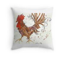 Proud Cockerel Throw Pillow