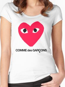 CDG Red Women's Fitted Scoop T-Shirt