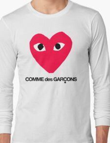 CDG Red Long Sleeve T-Shirt