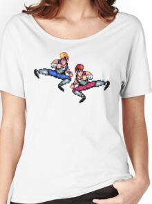 Double Dragon Flying Kicks Women's Relaxed Fit T-Shirt