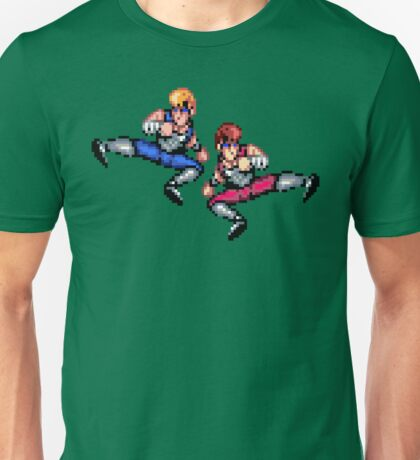 Double Dragon Flying Kicks Unisex T-Shirt