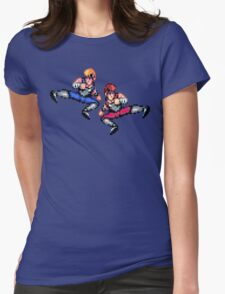 Double Dragon Flying Kicks Womens Fitted T-Shirt