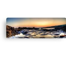 Rockpools at sunset Canvas Print