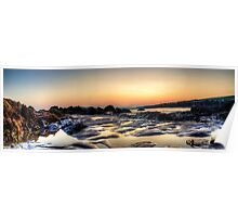 Rockpools at sunset Poster