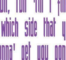 Killjoys theme in purple writing Sticker