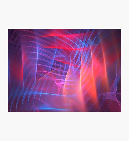 Pink Cube Photographic Print