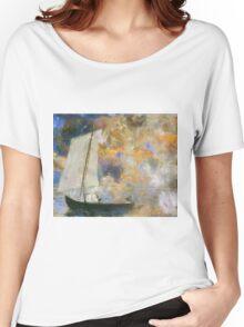 Odilon Redon - Flower Clouds. Odilon Redon - sea landscape. Women's Relaxed Fit T-Shirt