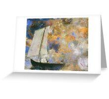 Odilon Redon - Flower Clouds. Odilon Redon - sea landscape. Greeting Card