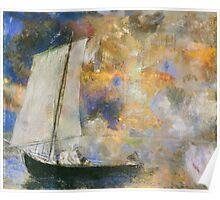 Odilon Redon - Flower Clouds. Odilon Redon - sea landscape. Poster