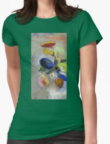 Odilon Redon - Flowers. Odilon Redon - still life with flowers. Womens Fitted T-Shirt