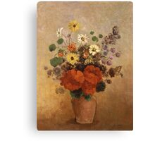 Odilon Redon - Flowers In A Vase. Odilon Redon - still life with flowers. Canvas Print