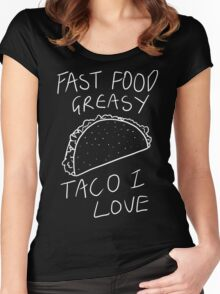 Taco Bell Saga (White) Women's Fitted Scoop T-Shirt