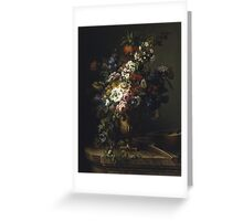 Francesc Lacoma Fontanet  - Gerro Amb Flors. Fragonard - still life with flowers. Greeting Card