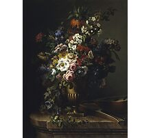 Francesc Lacoma Fontanet  - Gerro Amb Flors. Fragonard - still life with flowers. Photographic Print