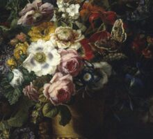 Francesc Lacoma Fontanet  - Gerro Amb Flors. Fragonard - still life with flowers. Sticker