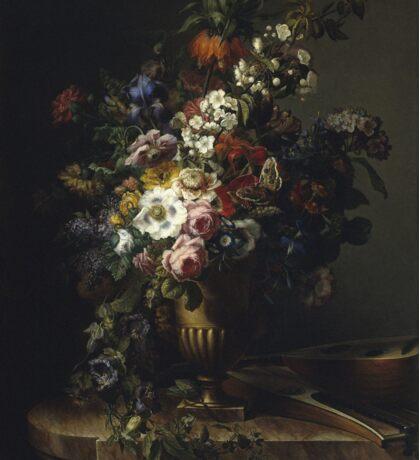 Francesc Lacoma Fontanet  - Gerro Amb Flors. Fragonard - still life with flowers. Sticker