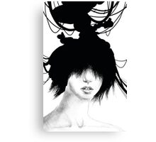 Inky Head Canvas Print