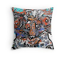 Colour of a Quirky Emu  Throw Pillow