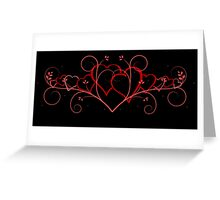 Delicate hearts Greeting Card