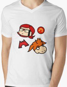 Omega Ruby Mens V-Neck T-Shirt
