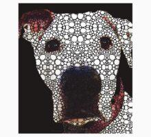 Stone Rock'd Dog 2 by Sharon Cummings Kids Tee