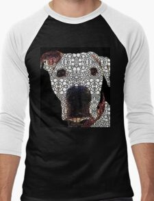 Stone Rock'd Dog 2 by Sharon Cummings Men's Baseball ¾ T-Shirt