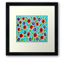 Bright Flowers Framed Print