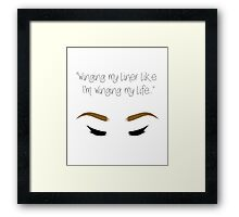 """Winging my liner..."" Framed Print"