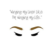 """""""Winging my liner..."""" Photographic Print"""