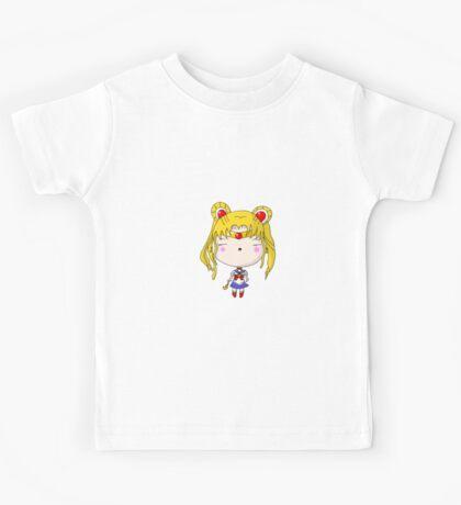 Kawaii Chibi Anime Sailor Moon Cutey Kids Tee
