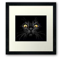 Cat yellow eyes Framed Print
