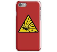 Caution: Explosive Grasshoppers iPhone Case/Skin