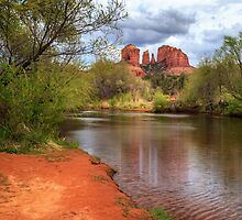 Cathedral Rock From Oak Creek by James Eddy