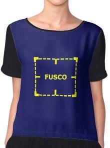Fusco Knows Chiffon Top
