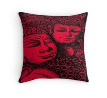 Red Buddhas Throw Pillow