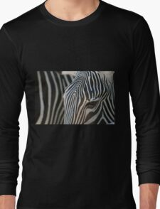 abstract in black white and brown Long Sleeve T-Shirt