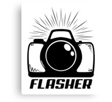 Camera Flasher Canvas Print
