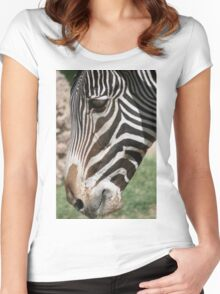 Zebra up Close... Women's Fitted Scoop T-Shirt