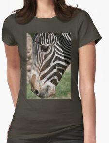 Zebra up Close... Womens Fitted T-Shirt