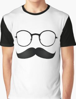 Nerd Mustache Graphic T-Shirt