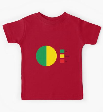Do Or Do Not, There is No Try Pie Chart Kids Tee