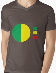 Do Or Do Not, There is No Try Pie Chart Mens V-Neck T-Shirt