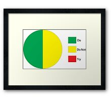 Do Or Do Not, There is No Try Pie Chart Framed Print