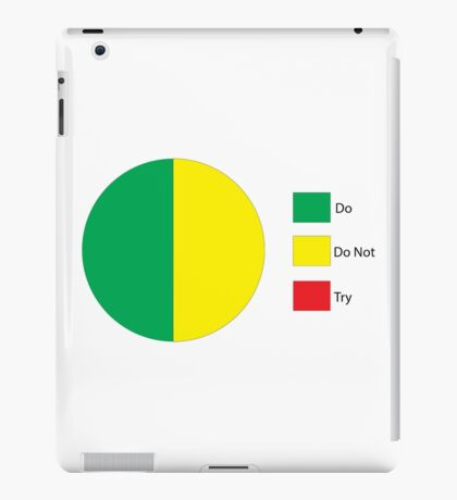 Do Or Do Not, There is No Try Pie Chart iPad Case/Skin