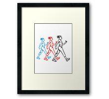 walking go, girls, women Framed Print